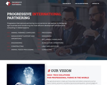 Розробка сайту «PROGRESSIVE INTERNATIONAL PARTNERING»