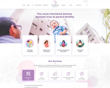 «Parens Fertility» Paternity Support Site
