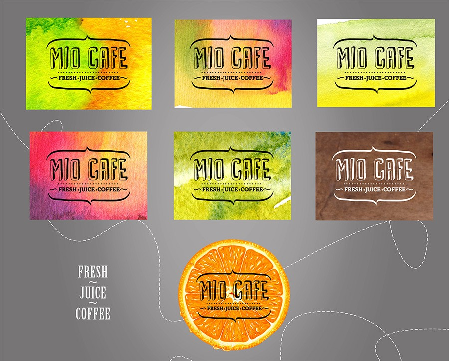 Corporate identity of the «Miokafe» 1