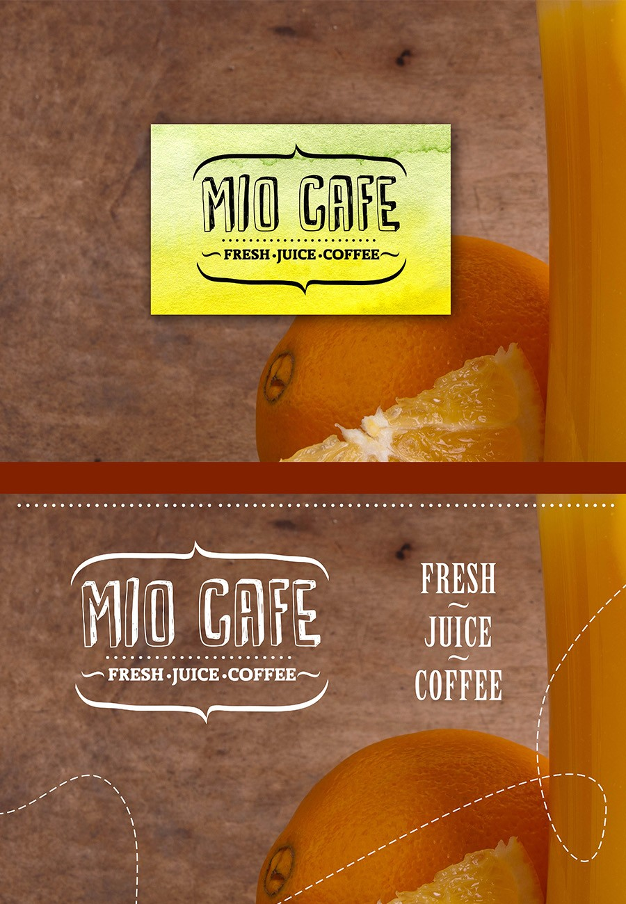Corporate identity of the «Miokafe» 2